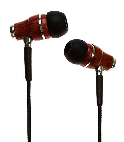 Symphonized NRG Premium Genuine Wood In-ear Noise-isolating Headphones|Earbuds|Earphones with Microphone (Black) by Symphonized