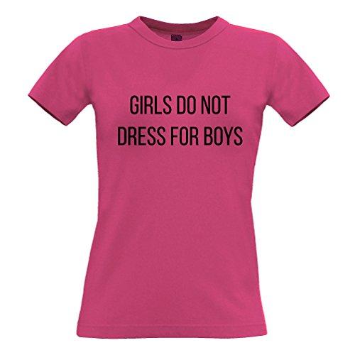 Filles T Féministes De La Femme Ne Se Habillent Pas Rose Garçons Slogan