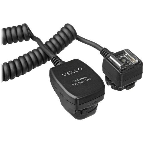 Vello Off-Camera TTL Flash Cord for Canon Cameras (6.5') by VELLO