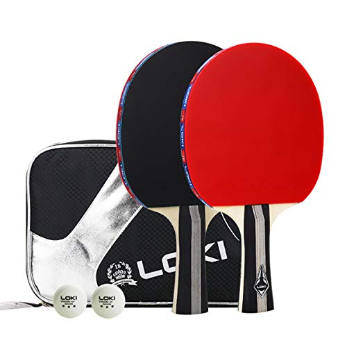 - Suyisy Table Tennis Set Includes 2 Rackets and 3 Star Professional Ping Pong Balls for Training/Recreational Racquet Kit, Portable Cover Case Bag