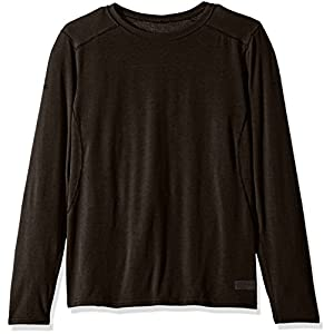 Polar Max Men's Micro H1 Long Sleeve Crew Top with Insect Shield & Advance Cooling, Black, X-Large