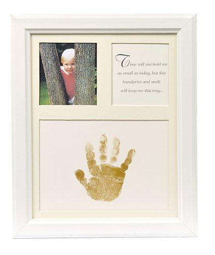 The Grandparent Gift Co. Baby Keepsakes Little Hands Handprint Frame, White