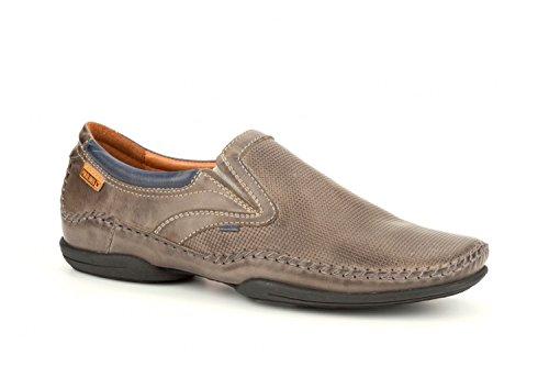 Pikolinos Slipper Puerto Rico 03a-3129 Lederen Mannen Schoenen Slip-on Grijs