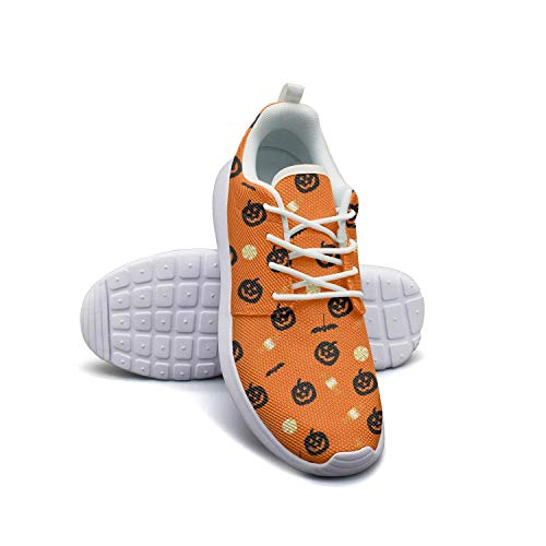Halloween wallpaper Decor white Casual Sneakers for Women