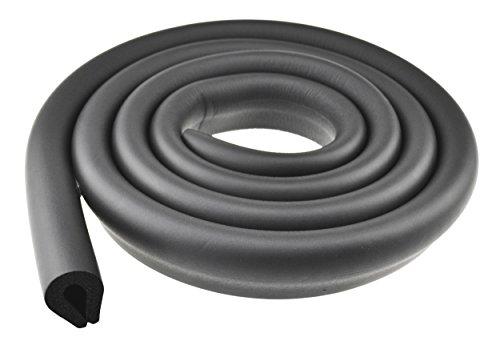 FiveSeasonStuff U-Shape (Black) All Season Premium Foam Table Edge Bumper Guard Protector Set for Baby Proofing | 1 Edge 6.5 Feet (2 Meters)
