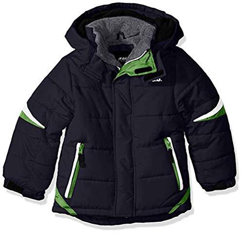 London Fog Boys' Big Active Puffer Jacket Winter Coat, Super Navy, 10/12