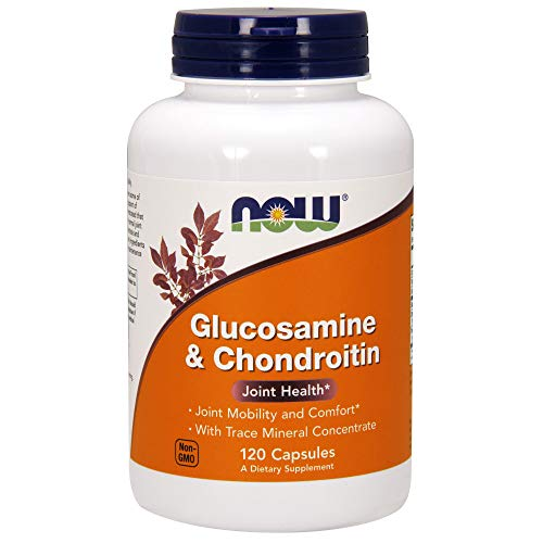 NOW Supplements, Glucosamine & Chondroitin, with Trace Mineral Concentrate and Alfalfa, 120 Capsules
