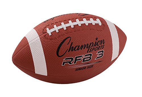 (Champion Sports RFB3 Rubber Sports Ball, for Football, Junior Size, Brown (CSIRFB3) )