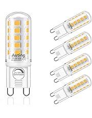 AUTING G9 LED-Lampen, Dimbaar Warmwit 2700K G9 Ledlamp 4W Vervangen 40W halogeenlampen, 400lm AC 220-240V Geen Flikkering Led-Lampen,360 °Stralingshoek, G9 Ledlampen dimbare 4W 5 stuks