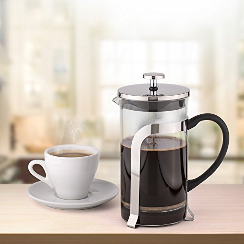 French Press Coffee Maker Problems : French Coffee Press & Tea Maker 8 cup - Heat Resistant Borosilicate Glass Carafe - with Triple ...