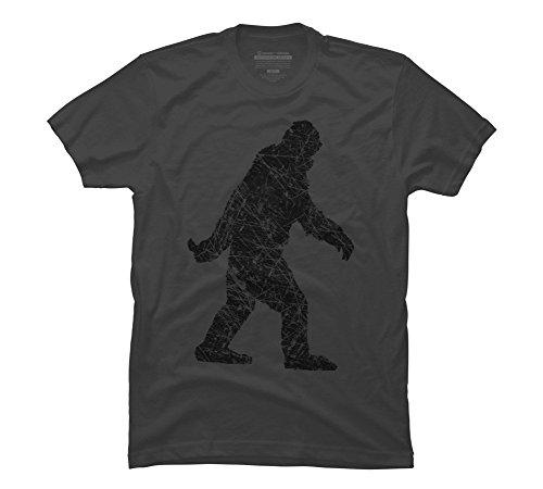 Grunge Sasquatch BigFoot Men's Large Charcoal Graphic T Shirt