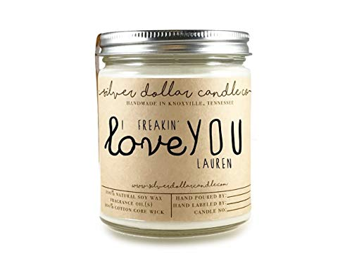 - Personalized Scented Soy Candle Mothers Day Gift for Women Boyfriend - Huge Choice of scents