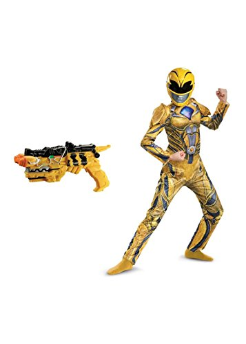 Yellow Power Ranger Movie Costume and Toy Kids Accessory (Small (4 to (Child Yellow Ranger Costumes)