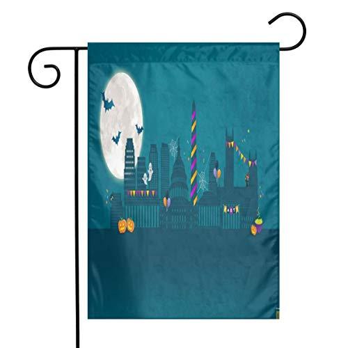 Best Halloween Party Washington Dc (Alu20haoing Vertical Garden Flags - Festive Flags for Lawn & Yard Decor -12