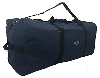 Heavy Duty Large Square Cargo Duffel Jumbo Gear Bag 36 inch Big Equipment Ball Gym Bag Sport Duffle Travel Bag Rooftop Rack Bag Roofbag-Navy