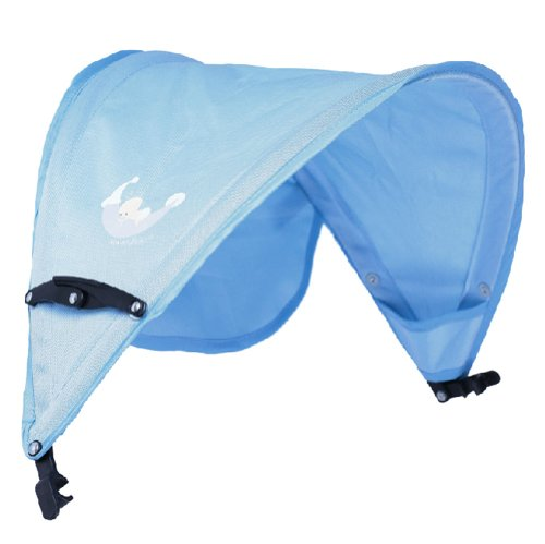 Baby Stroller Sunshade Maker Infant Stroller Canopy Cover Half [Light Blue] by Panda Superstore (Image #2)