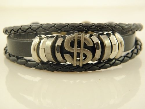 - New Europe selling leather hand made woven bracelet personalized ornaments dollar signs in Hong Bala Pi