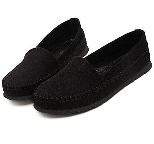 Solid Outdoor Comfort Urethane Flatform Womens Black Soft Ground Ladola Shoes Walking XUxS6Cwq