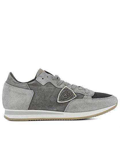 Philippe Model Herren TRLURW05 Grau Wildleder Sneakers