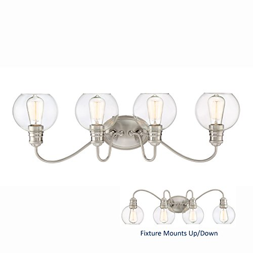 Soho 4-Light 9.5-in Brushed Nickel Globe Bathroom Vanity Light ()
