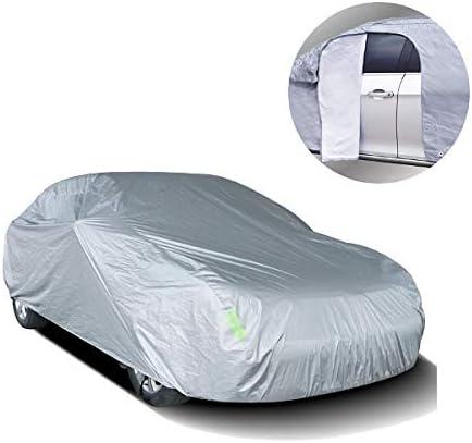 EMMEA TG XL Telo COPRIAUTO Copri Auto Felpato Compatibile con Opel Zafira B 2010 Universale Impermeabile Cover Anti Strappo Lavabile AntiGraffio Taglia XL 533X196X120CM