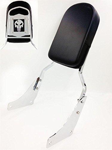 Motorcycle Motorcycle Skull Backrest Sissy Bar Pad For Honda Shadow