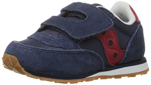 Saucony Jazz Hook & Loop Sneaker (Toddler/Little Kid), Navy/Red, 10 M US Toddler
