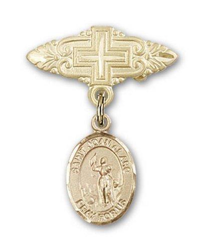Icecarats Or Bijoux De Créateurs Rempli R. Joan De La Broche De Badge Charme Arc Avec La Croix 1 X 3/4