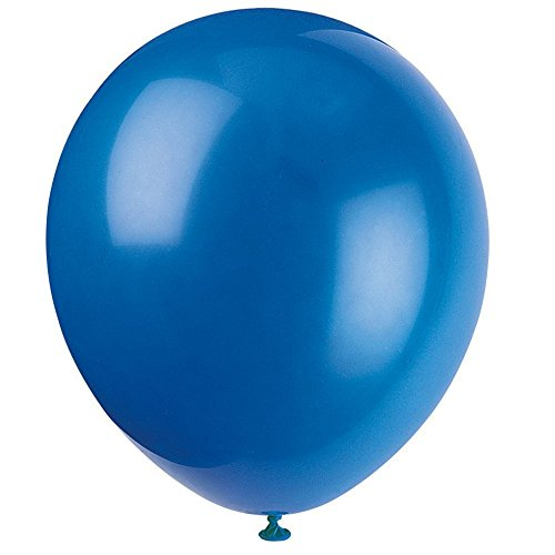 Fancy Wang 100PCS Assoeted Color Party Balloons Latex 10 inches-Navy Blue