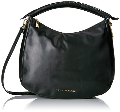 Tommy Hilfiger Purse for Women Effortless Convertible Hobo, Black by Tommy Hilfiger