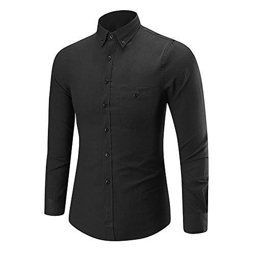 clearance sale!!ZEFOTIM Mens Long Sleeve Oxford Formal Casual Suits Slim Fit Tee Shirts Blouse Top ()