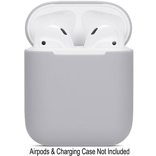 Compatible Airpods Case, Protective Ultra-Thin Soft Silicone Shockproof Non-Slip Protection Accessories Cover Case for Apple Airpods 2 & 1 Charging Case - Gray