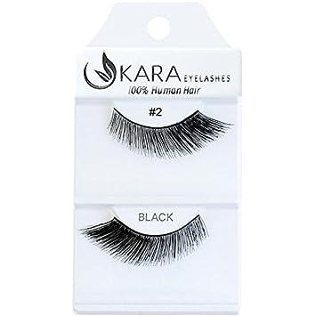 3fcf34f0524 Amazon.com : UKARA 100% Human Hair Natural False Eyelashes (#K-EL-002-12  Pack) Fake Lash Makeup : Beauty