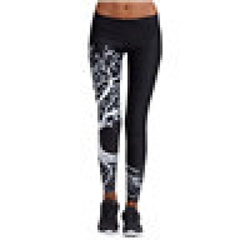 2018 Women Printed Sports Yoga Workout Gym Fitness Exercise Pants Athletic by Topunder