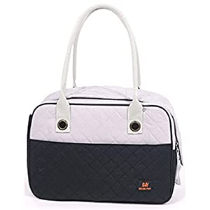 Stylish Quilted Ventilated Discreet Dog / Cat / Small Animal Travel Pet Carrier Tote Purse Hand Bag