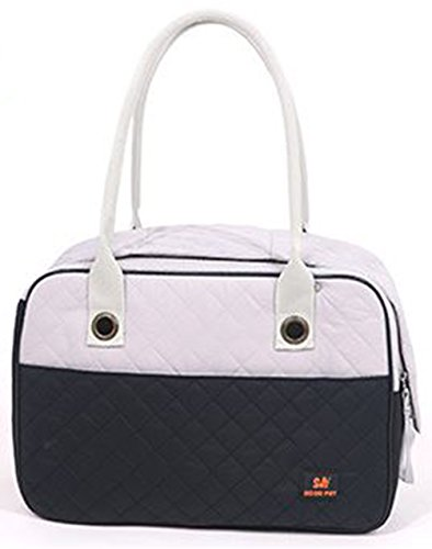 Stylish Quilted Ventilated Discreet Dog / Cat / Small Animal Travel Pet Carrier Tote Purse Hand (Designer Puppy Carriers)