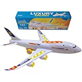 Top Race Bump and Go Action, Boeing 747 Airplane with Lights and Real Sounds