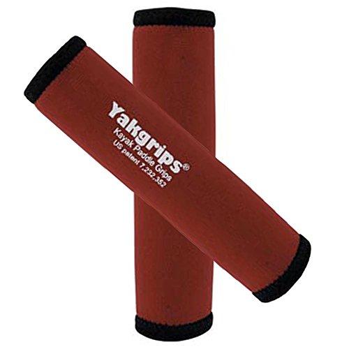 Yakgrips® Red Non-Slip Soft Kayak Canoe Paddle Grips