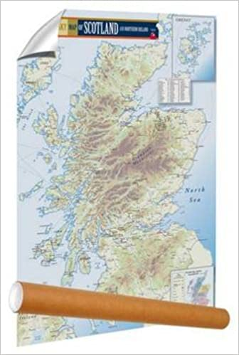rolled Malt Whisky Map of Scotland