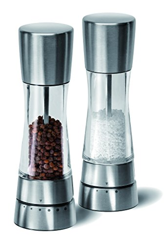 Cole & Mason Derwent Salt & Pepper Mill Giftset, Stainless Steel, 190mm by Cole & Mason