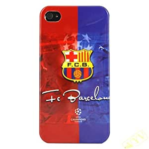 Kooko FC Barcelona Emblem Hard Glossy Cover Case For IPhone 4 4G