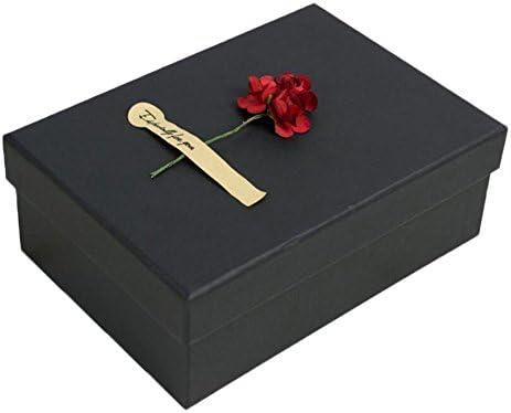 con la Caja de Regalo Decorativa de la Flor roja Falsa de la Flor: Amazon.es: Hogar