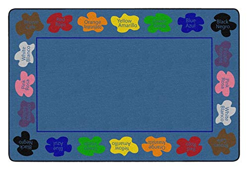 Childcraft Learn Your Colors Bilingual Carpet, 8 x 12 Feet, Rectangle