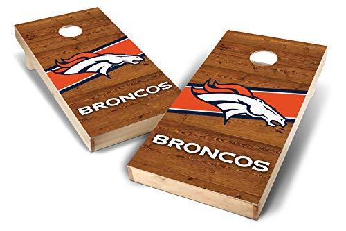 PROLINE NFL Denver Broncos 2'x4' Cornhole Board Set - Logo Design ()