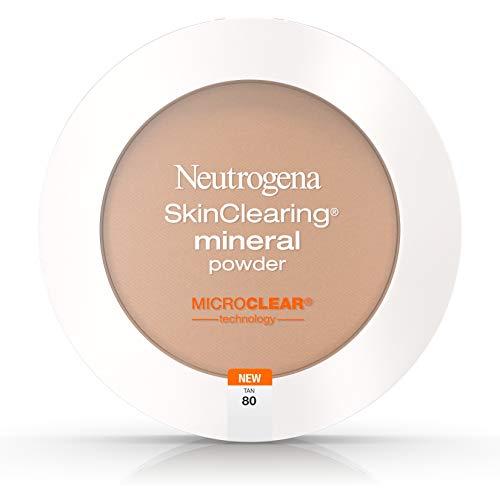 Neutrogena SkinClearing Mineral Powder, Tan80 (Best Makeup Foundation For Seborrheic Dermatitis)