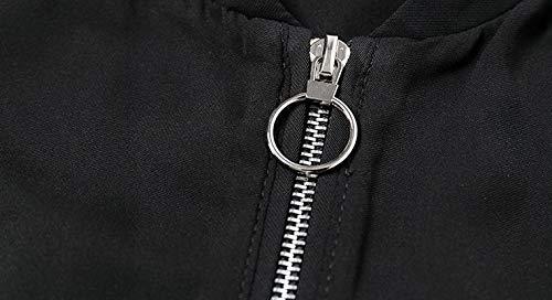 Con De Corto Jacket Top L Bolsillo Abrigo Cuello Jjhr Autumn V Mujeres Y Las Pilot Cremallera Delgado Mujer Jakcets Chaqueta En Estilo Diseño agqqf0x