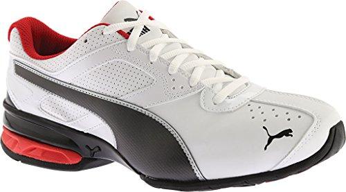 PUMA Men's Tazon 6 FM Puma White/ Puma Black/ Puma Silver Running Shoe – 10.5 D(M) US