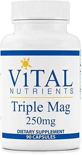 Vital Nutrients - Triple Mag 250 mg - Magnesium for Enhanced Absorption - 90 Capsules
