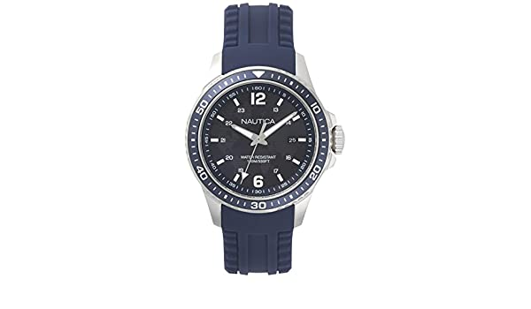 Nautica Reloj Analogico para Hombre de Cuarzo con Correa en Silicona NAPFRB002: Amazon.es: Relojes