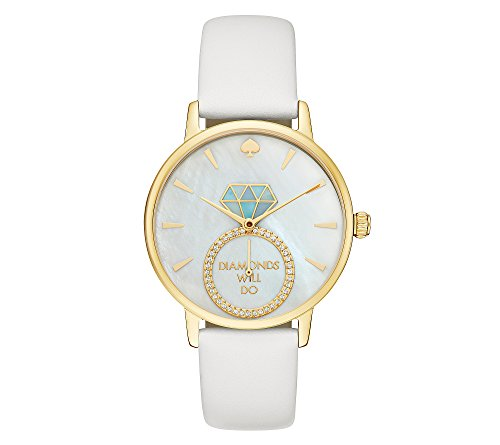 kate spade new york Women's 'Metro' Quartz Stainless Steel and Leather Casual Watch, Color:White (Model: KSW1317) by Kate Spade New York